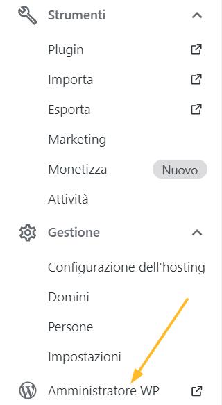Gestione dei plugin da WP Admin
